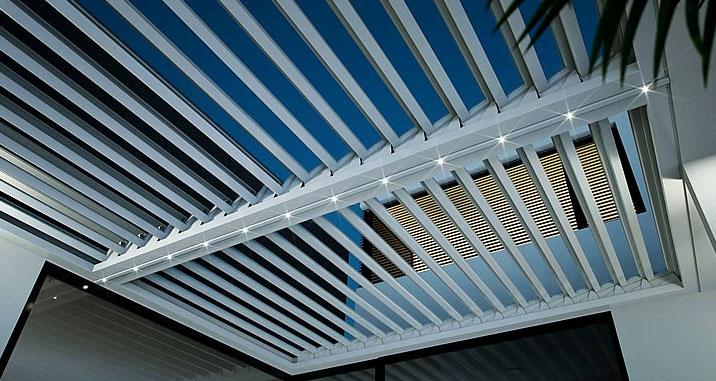 Lamellendach LED-Leiste