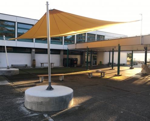 Sonnensegel Schulhaus Hinterkappelen