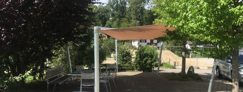 Sonnensegel Pflegeheim Auried Flamatt