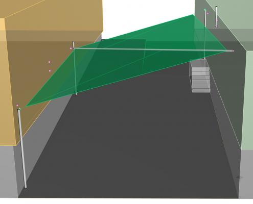 3D Planung Sonnensegel